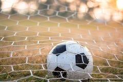 вектор футбола цели шарика Стоковое Изображение