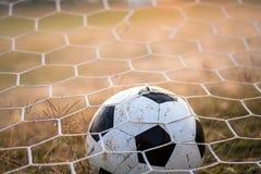 вектор футбола цели шарика Стоковая Фотография