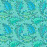 вектор флористической картины безшовный Вручите вычерченную текстуру с Пейсли, декоративным чертежом, книжка-раскраской Стоковая Фотография RF
