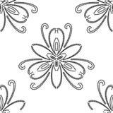 вектор флористической картины безшовный Конспект Востока Стоковые Изображения RF