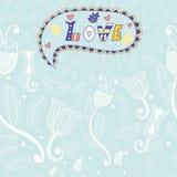 вектор флористической картины безшовный Любовь бесплатная иллюстрация