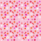 вектор флористической картины безшовный бесплатная иллюстрация