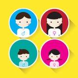 Вектор характера семьи плоский Бесплатная Иллюстрация
