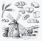 вектор хлебопекарни безшовный Стоковые Фотографии RF