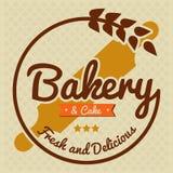 Вектор хлебопекарни и торта свежий и очень вкусный Стоковые Фото