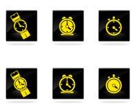 Вектор хронометрирует значки Стоковые Изображения RF