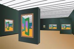 вектор художественной галереи иллюстрация вектора