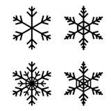 Вектор хлопь снега Стоковые Фотографии RF