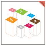 Вектор цвета дизайна infographics доллара денег диаграммы установленный Стоковые Изображения RF