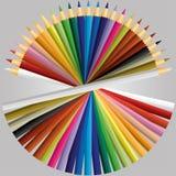 Вектор цвета карандаша иллюстрация штока