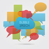 Вектор цвета речи пузыря Стоковое Изображение