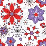 Вектор цветка безшовный Стоковое Изображение