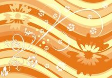вектор цветка предпосылки Стоковые Фото