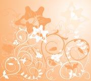 вектор цветка элементов конструкции предпосылки Стоковая Фотография