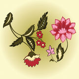 вектор цветков 2 Стоковое Фото
