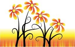 вектор цветков Стоковые Фото