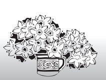 вектор цветков Стоковое Изображение RF
