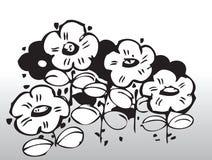 вектор цветков Стоковая Фотография RF