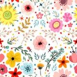 Вектор цветочного узора Стоковая Фотография