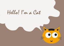 Вектор цитаты текста кота, вектор кота Стоковые Фото