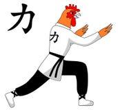 Вектор цыпленка Kung Fu Стоковое Фото