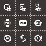 Вектор 24 часа комплекта значка Стоковые Фото