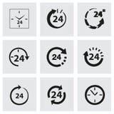 Вектор 24 часа комплекта значка Стоковое Фото