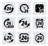 Вектор 24 часа символов Стоковые Изображения RF