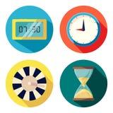 Вектор часов развития собрания Иллюстрация вектора
