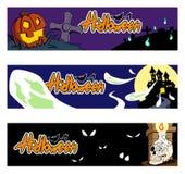 1 вектор части иллюстрации halloween знамен Стоковая Фотография RF