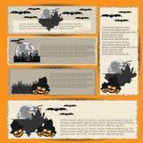 1 вектор части иллюстрации halloween знамен Стоковые Изображения RF