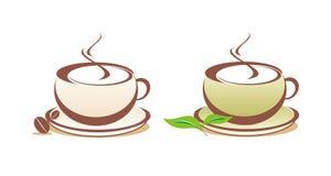 вектор чая иллюстрации кофе иллюстрация штока