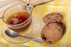 вектор чая чашки печений стоковые фото