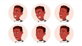 Вектор человека значка воплощения черный afoul Лицевые эмоции Круглый портрет Милый работодатель Счастье, несчастное бобра бесплатная иллюстрация