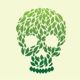 Вектор черепа листьев Стоковые Изображения RF