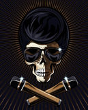 Вектор черепа рок-звезды Стоковая Фотография RF