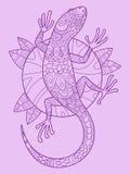 Вектор чертежа цвета ящерицы Стоковые Изображения RF