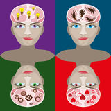 Вектор человеческой головы Стоковые Изображения