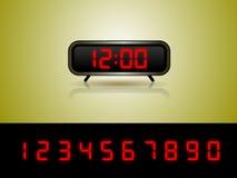 вектор чисел будильника Стоковое Фото