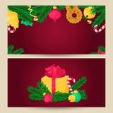 вектор шаблона архива eps рождества 8 знамен включенный Элемент дизайна зимнего отдыха Объект Нового Года Бесплатная Иллюстрация