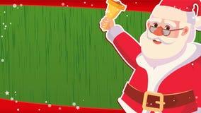 Вектор шаблона знамени продажи рождества Xmas Санта Клаус Большое предложение сбывания Для знамени Xmas, брошюра, плакат, скидка Стоковое Фото