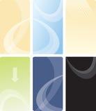 вектор шаблона конструкции визитной карточки Стоковое Изображение