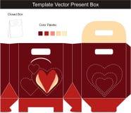 вектор шаблона коробки присутствующий Бесплатная Иллюстрация