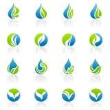 вектор шаблона логоса листьев установленный Стоковые Фотографии RF