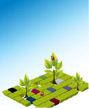 вектор шаблона охраны окружающей среды Стоковая Фотография RF
