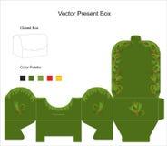 вектор шаблона подарка коробки Иллюстрация вектора
