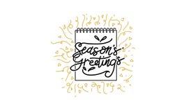 Вектор шаблона приветствиям ` s сезона Стоковое Изображение RF