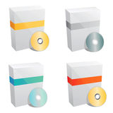 вектор шаблона продукта коробки Стоковое Фото