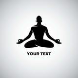 Вектор шаблона логотипа йоги Стоковое Фото