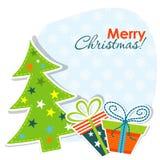 вектор шаблона приветствию рождества карточки Стоковая Фотография RF